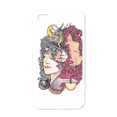 KISS ! Apple iPhone 4 Case (White) by Contest1731890