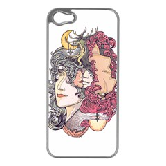 KISS ! Apple iPhone 5 Case (Silver) by Contest1731890