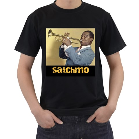 Satchmo By Olg   Men s T Shirt (black)   Y7pm10dj3tvx   Www Artscow Com Front