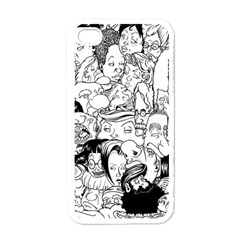 Faces In Places Apple Iphone 4 Case (white) by Contest1894109
