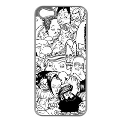 Faces In Places Apple Iphone 5 Case (silver) by Contest1894109