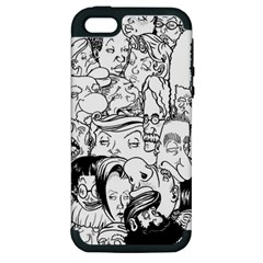 Faces In Places Apple Iphone 5 Hardshell Case (pc+silicone) by Contest1894109