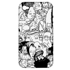 Faces In Places Apple Iphone 4/4s Hardshell Case (pc+silicone) by Contest1894109