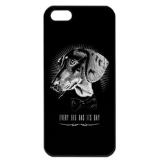 every dog has its day Apple iPhone 5 Seamless Case (Black) by Contest1761904