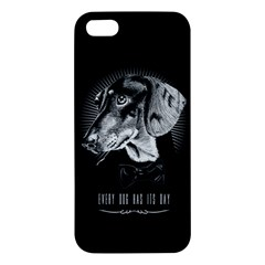 every dog has its day Apple iPhone 5 Premium Hardshell Case by Contest1761904