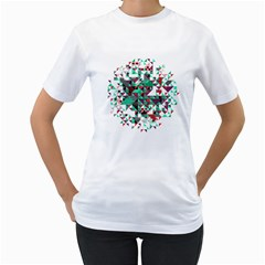 Kaleidoscope On Black Women s T Shirt (white)  by Contest1888822
