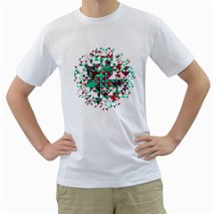 Kaleidoscope On Black Men s T Shirt (white)  by Contest1888822