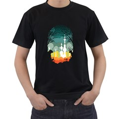 A Discovery In The Forest Men s T Shirt (black)