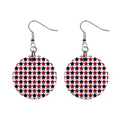 Patriot Stars Mini Button Earrings