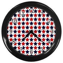 Patriot Stars Wall Clock (black) by StuffOrSomething