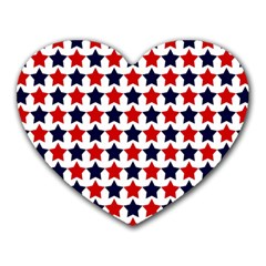 Patriot Stars Mouse Pad (heart) by StuffOrSomething