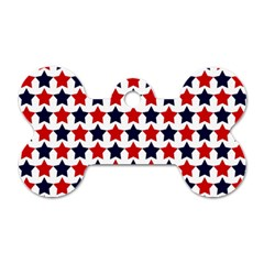 Patriot Stars Dog Tag Bone (two Sided) by StuffOrSomething
