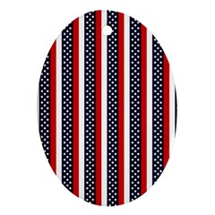 Patriot Stripes Oval Ornament by StuffOrSomething