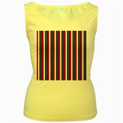 Patriot Stripes Women s Tank Top (yellow) by StuffOrSomething