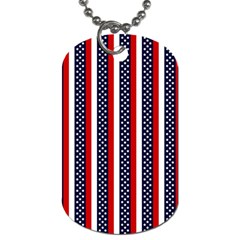 Patriot Stripes Dog Tag (two Sided)  by StuffOrSomething