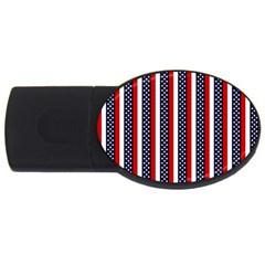 Patriot Stripes 2gb Usb Flash Drive (oval) by StuffOrSomething