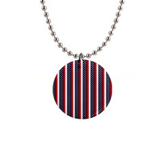 Patriot Stripes Button Necklace by StuffOrSomething
