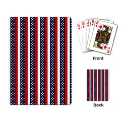 Patriot Stripes Playing Cards Single Design by StuffOrSomething