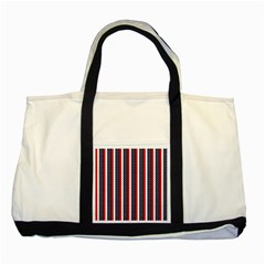 Patriot Stripes Two Toned Tote Bag by StuffOrSomething