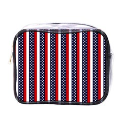 Patriot Stripes Mini Travel Toiletry Bag (one Side) by StuffOrSomething