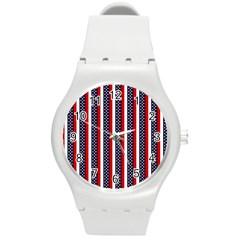Patriot Stripes Plastic Sport Watch (medium) by StuffOrSomething