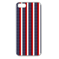 Patriot Stripes Apple Seamless Iphone 5 Case (clear) by StuffOrSomething
