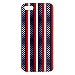 Patriot Stripes Apple Iphone 5 Premium Hardshell Case by StuffOrSomething