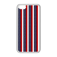 Patriot Stripes Apple Iphone 5c Seamless Case (white) by StuffOrSomething
