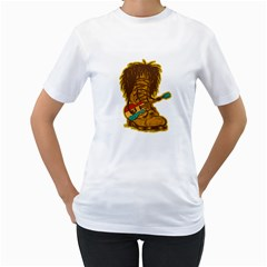 Boot Marley Women s T Shirt (white)  by Contest1753604
