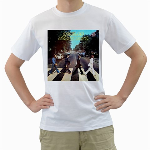 The Beatles By Olg   Men s T Shirt (white)    K58yg5y9r7zl   Www Artscow Com Front