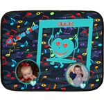 Lullaby baby mini blanket, 2 sides - Double Sided Fleece Blanket (Mini)