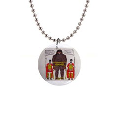 Big Foot & Romans Button Necklace by creationtruth