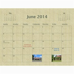 Our Calendar 2014/5 By Heidi Short   Wall Calendar 11  X 8 5  (12 Months)   Iyfc966a8l7g   Www Artscow Com Jun 2014