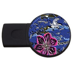 Flooded Flower 2gb Usb Flash Drive (round) by Rbrendes