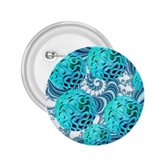 Teal Sea Forest, Abstract Underwater Ocean 2 25  Button by DianeClancy