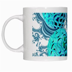 Teal Sea Forest, Abstract Underwater Ocean White Coffee Mug by DianeClancy