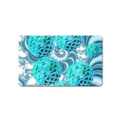 Teal Sea Forest, Abstract Underwater Ocean Magnet (name Card) by DianeClancy
