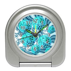 Teal Sea Forest, Abstract Underwater Ocean Desk Alarm Clock by DianeClancy
