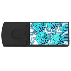 Teal Sea Forest, Abstract Underwater Ocean 4gb Usb Flash Drive (rectangle) by DianeClancy