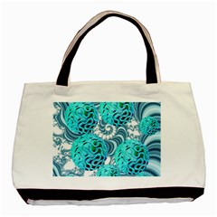 Teal Sea Forest, Abstract Underwater Ocean Classic Tote Bag by DianeClancy