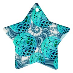 Teal Sea Forest, Abstract Underwater Ocean Star Ornament (two Sides) by DianeClancy
