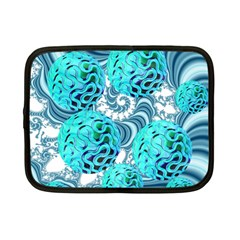 Teal Sea Forest, Abstract Underwater Ocean Netbook Sleeve (small) by DianeClancy