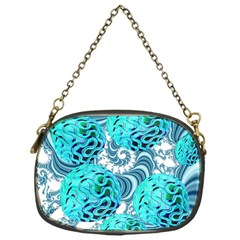 Teal Sea Forest, Abstract Underwater Ocean Chain Purse (one Side) by DianeClancy