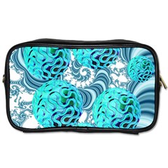 Teal Sea Forest, Abstract Underwater Ocean Travel Toiletry Bag (two Sides) by DianeClancy