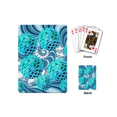 Teal Sea Forest, Abstract Underwater Ocean Playing Cards (mini) by DianeClancy