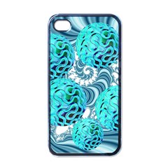 Teal Sea Forest, Abstract Underwater Ocean Apple Iphone 4 Case (black) by DianeClancy
