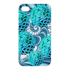 Teal Sea Forest, Abstract Underwater Ocean Apple Iphone 4/4s Hardshell Case by DianeClancy