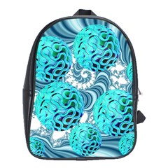 Teal Sea Forest, Abstract Underwater Ocean School Bag (xl) by DianeClancy