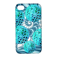 Teal Sea Forest, Abstract Underwater Ocean Apple Iphone 4/4s Hardshell Case With Stand by DianeClancy