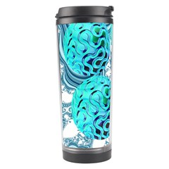 Teal Sea Forest, Abstract Underwater Ocean Travel Tumbler by DianeClancy